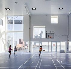 Copenhagen International School Nordhavn by C.F. Møller Architects - Denmark's largest, solar-powered and most sustainable international school.