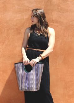 @kelsicassidy with the Purple Luna bag. #katechan #ecofashion #fashion #ecoluxe #summervibes Shop this look at www.katechan.com