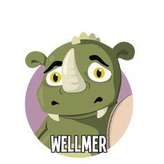 Bild på Wellmer i en rund cirkel