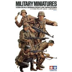 This set contains five lifelike figures of the World War II German panzer grenadiers in 1/35 scale. Each figure is moulded in a highly animated posture and are realistically reproduced down to the facial expressions. Infantry weapons included are an MG42 machine gun, two MP44 assault rifles, two G43 rifles , a Panzerfaust 60 ,and stick grenades