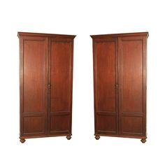 Pair  of  Solid Teak  Armoires