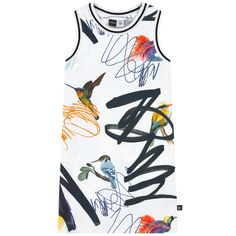 Cotton jersey  Stretch item Straight fit Crew neck Racer back Sleeveless Ribbed knit trims Fancy print Randomly placed patterns Small logo patch on the heels - $ 60