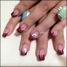 Acrylic Nail Designs, Nail Art Designs, Acrylic Nails, Dope Nails, Red Nails, Elegant Nail Art, French Nails, Paint Designs, Nail Tips