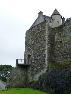 Dunstaffnage Castle, Argyll and Bute, Scotland.  Built in the 1220s by Clan MacDougall, Dunstaffnage is one of the oldest stone castles in Scotland.