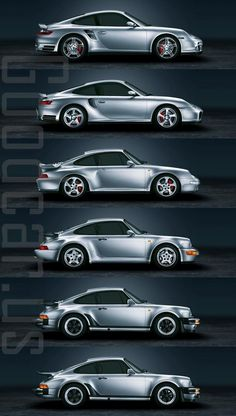 Porsche 911 Evolution:  1 - 930 (production period 1975-1978 )  2 - 930 (production period 1978-1989) 3 - 964 (production period 1990-1994) 4 - 993 (production period 1995-1997) 5 - 996 (production period 2001 - 2005)  6 - 997 (production period 2006-2012 )