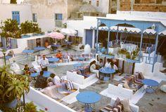 Tunisia, Sidi Bou Said. Cafe des Turcs