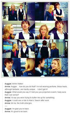 "Covert Affairs - 2x01 - ""Begin the Begin""  Auggie/Annie"
