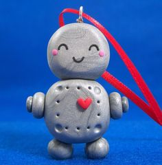 I can make this robot Christmas ornament too!
