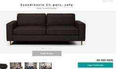 FINN – Bolia Scandinavia 2 1/2-seter sofa. Anilina skinn i fargen dark brown.
