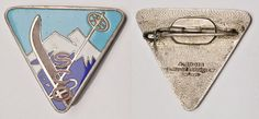 SKIING France -SCO- Augis Lyon - vintage enameled lapel pin badge
