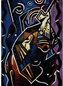 """""""petite dim ( `petit` soleil"""", huile de Francis Picabia (1879-1953, France)"""