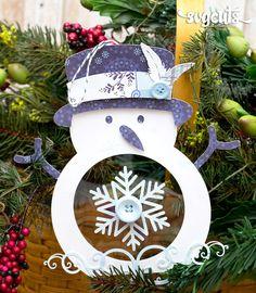 Frosty Ornament by Kathy Helton | SVGCuts.com Blog