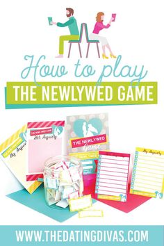 How to play the newlywed game- a fun date night game. Question Games For Couples, Newlywed Game Questions, The Newlywed Game, Bridal Shower Questions, Bridal Shower Games, Bridal Shower Invitations, Bridal Showers, Bachelorette Party Games, Dating Divas