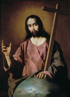 """Show us, LORD, your mercy; grant us your salvation."" Psalm 85:8 // Christ the Saviour blessing / El Salvador bendiciendo // 1638 // Francisco de Zurbarán // #Jesus #cross"