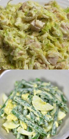 Они не повредят вашей фигуре и не оставят ощущения тяжести в желудке, порадовав при этом отменным вкусом. New Recipes, Cooking Recipes, New Menu, Keto, Healthy Cooking, Potato Salad, Cabbage, Salads, Lose Weight