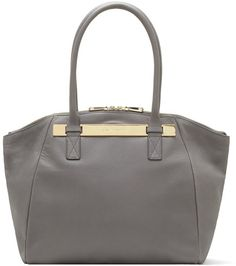 8bf9934335 Jace Leather Tote - Lyst Nike Jacket