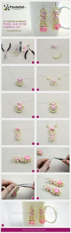 These DIY beaded earrings will demonstrate you an easy way regarding pearl and rose combined earring DIY. Within five minutes, you will crea...