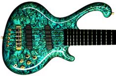 If I played the bass, it'd be a very unique one like this. Only prolly in pink or purple(;