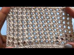 Easy Crochet Patterns, Baby Knitting Patterns, Lace Knitting, Knitting Stitches, Crochet Tunic, Tunisian Crochet, Filet Crochet, Herringbone Stitch Tutorial, Knitting Videos