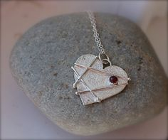 Mended Heart Valentine Sterling Silver Heart by KittyStoykovich, $64.00