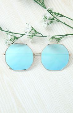 Quay Australia - Kiss And Tell Sunglasses - Rose/Blue from Peppermayo.com