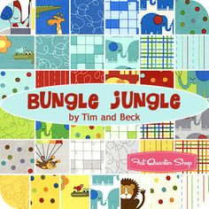 Hmmm...This might be a perfect pack for a baby shower baby quilt!  Bungle Jungle by Tim and Beck