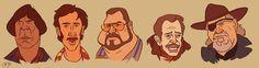 Coen Bros. Character Caricatures