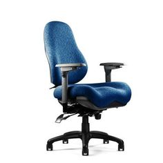 Neutral Posture 8000 Series High-Back Desk Chair Upholstery: Revive - Ebony, Seat: Medium Seat, Deep Contour