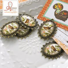 10-pc Charm: Bird Frame - Webster's Pages