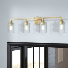 You'll love the Tera 4-Light Vanity Light with Iced Glass at Joss & Main - With Great Deals on all products and Free Shipping on most stuff, even the big stuff.
