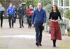 Kate Middleton and Prince William Perfect Their Christmas-Party Looks — Vanity Fair Kate Middleton Prince William, Prince William And Catherine, Party Looks, Duke And Duchess, Duchess Of Cambridge, Red Tartan Skirt, Red Christmas Dress, Queen Kate, Kate Middleton Photos