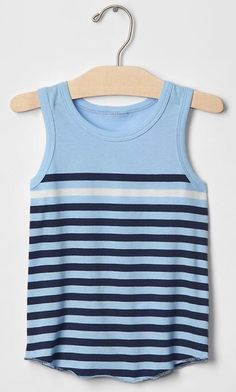 NWT babyGap Toddler Boy's Sleeveless Striped Tank Tops 3-pack 3T/4T/5T %100 Cttn #babyGap #Everyday