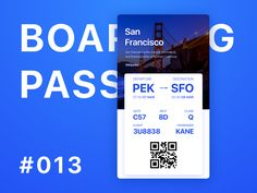 Daily UI Designer Challenge #013 Boarding Pass by Kane Young
