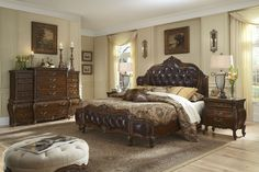 Lavelle Melange Mansion Leather Bedroom Set