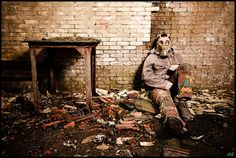 Post-Apocalypse #gasmask #urbex