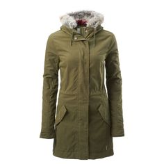 Sturdy cotton/nylon outer with water repellent finishinsuLITE-filled lining throughout body, sleeves and hood provides low bulk insulationFull zip jacket with storm guardLonger length with split at backAdjustabl