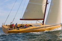 Frank Gehry worked with Argentine naval architect German Frers to create the yacht. Dubbed Foggy, the yacht is named after Gehry himself, based on the 86-year-old's initials, F.O.G., and was built by the Brooklin Boat Yard in Maine.