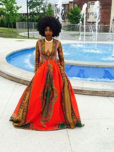 Beautiful African print prom dress.