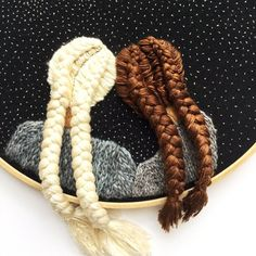 Two Girls Beneath The Stars Dutch Braids Embroidery Hand Embroidery Embroidered People Contemporary Embroidery Art Embroidery Contemporary Embroidery, Modern Embroidery, Embroidery Art, Embroidery Stitches, Embroidery Patterns, Fishbone Braid, Yarn Braids, Fishtail Braids, Braid Designs