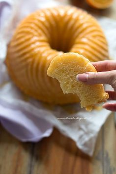 fette morbide di Ciambella all arancia