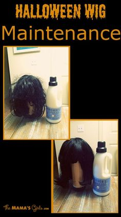Good to know when I want to wear my wigs next year! Halloween Wig Maintenance: You will need: Water Fabric Softener Spray Bottle Paddle Brush Boar Brush Holidays Halloween, Halloween Make Up, Halloween Crafts, Halloween Decorations, Halloween Ideas, Costume Halloween, Halloween Party, Halloween 2017, Halloween Disfraces