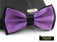 hot 5pcs fashion Wedding solid contrast bow tie light purple black silk butterflies mens Cravat gravitas borboleta ,12CM*6.5CM