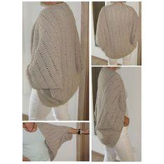 Jacke stricken -- Sommerjacke als Quadrat, Crochet Bolero, Pull Crochet, Knit Crochet, Crochet Hats, Crochet Shrug Pattern, Crochet Clothes, Diy Clothes, Knitting Projects, Crochet Projects