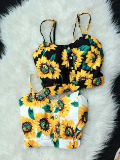 Crop Top 2016 Summer Style Sunflowers  Print Cropped Chest Pad Camisole Blusa Brandy Melville Crop Tops Sport Strappy Bra