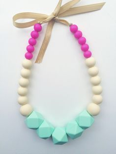 Little 5 Points Infant Silicone Teething Necklace by NommiesbyMommy on Etsy $18.00
