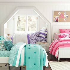 omg I would so want to be the bed in the window area. I've always wanted a large caving in window in my room and it would be so cool to put your bed in there!