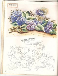 Tatitando Arte: Riscos de flores China Painting, Tole Painting, Fabric Painting, Painting & Drawing, Brush Embroidery, Floral Embroidery Patterns, Folk Embroidery, Stencil Patterns, Painting Patterns