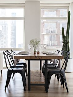 the chicest dining room {table and chairs would make a great group gift on zola wedding registry}