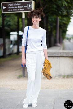 whiteout. #EleonoreToulin #offduty in Paris.