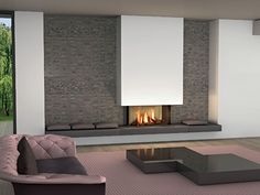 modern fireplace on the wall - Modern fireplaces for stunning indoor and outdoor spaces